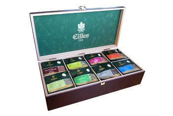 Dřevěná čajová kazeta Eilles - 40ks